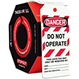 Accuform 100 Lockout Tags by-The-Roll, Danger Do Not Operate, US Made OSHA Compliant Tags, Tear & Water Resistant PF-Cardstoc