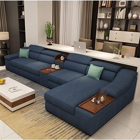 MIKEWEI Sofá De Tela Extraíble Y Lavable Sofá Moderno Salón ...