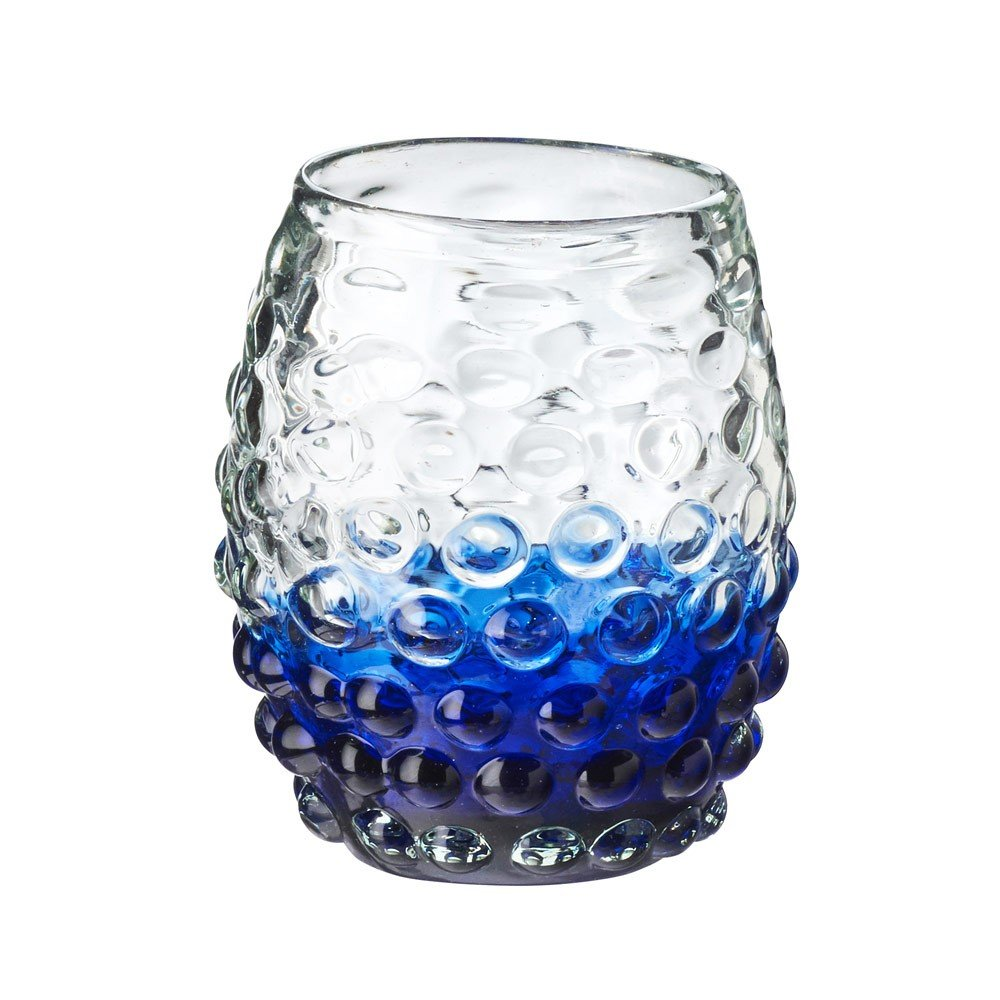 Artisan Handmade Glasses, Made of Mexican Recycled Glass 14 oz. - Set of 4