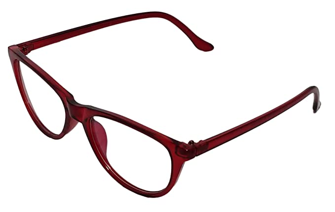 78c9d2e45dd Image Unavailable. Image not available for. Colour  Justkartit Redish Color  Cat Eye Women s Full Rim Spectacle Frame (Medium Size Cat Eye Glasses