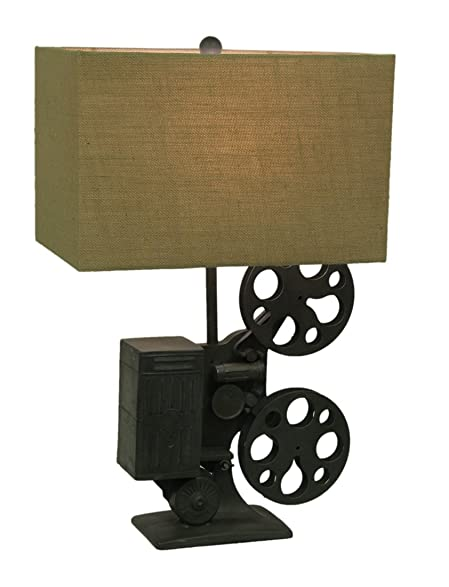 Crestview Metal & Resin Table Lamps Scratch & Dent Movie Time Retro ...