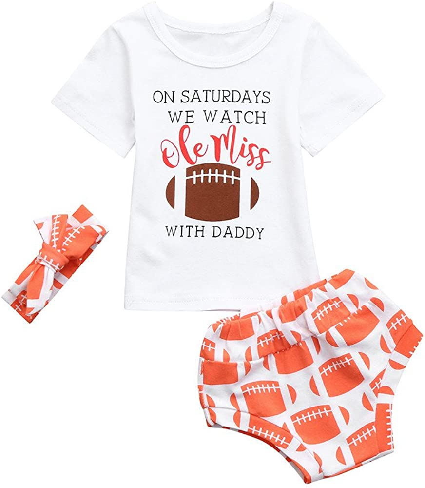 Baby Shorts Baby Girls Summer Outfits Cheap Letter Print Tee Tops Baby Girls Headband