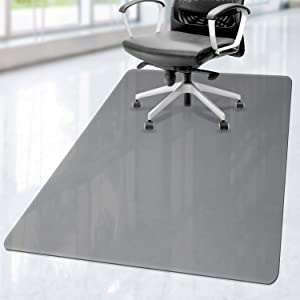 Lezgo Premium Polycarbonate Office Chair Mat for Carpeted Floor, 48x36, Heavy Duty, Easy Glide Transparent Mats for Chairs, Good for Desks, Office and Home, Protects Floors, High Impact Strength