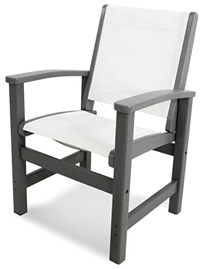 Prime Polywood 9010 Gy901 Coastal Dining Chair Slate Grey White Sling Dailytribune Chair Design For Home Dailytribuneorg