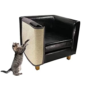 """Cat Furniture Protector, Heavy Duty Anti Scratching Mat Sisal Couch Guard for Cats, Protect Your Sofa from Scratching, Easy Installation, 55""""x23.6"""""""