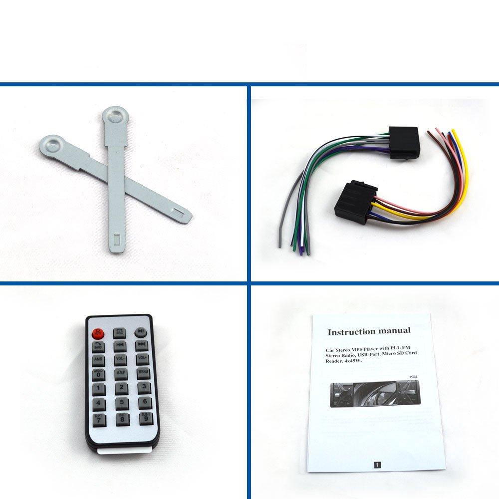 UnPlug 4.1 Inch Single Din Car Stereo MP5 Player Bluetooth FM Radio Car Audio Player 1080P Video Support