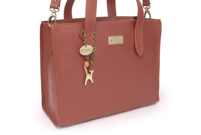Catwalk kollektion handväskor – stor läderväska för kvinnor – axelväska/korskropp med extra avtagbar justerbar rem – vattentålig – Katharina SOLBRÄNNA