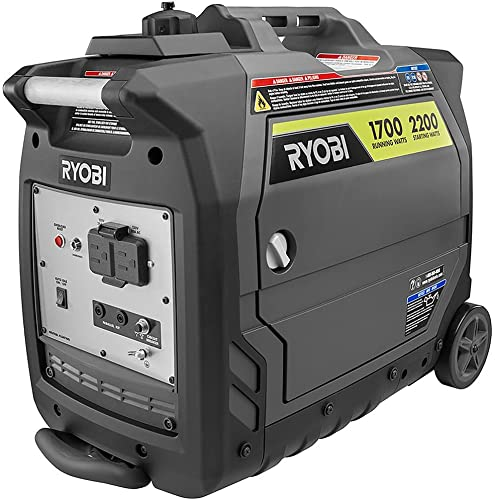 Ryobi Digital Inverter Generator 2,200-Watt Gray RYi2200GR