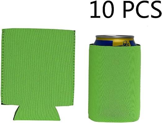 16.9 OZ E-Living 500ML Blk//Navy//Red//Lemo Green Collapsible Neoprene Can//Beer//Bottle//Beverage Coozie//Coolie//Cover//Insulator//Holder//Huggie//Sleeve for Cola//Beer//Soda- 4 Packs