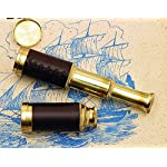 Nautical Pocket Telescope Pirate Spyglass - Brass & Leather 4