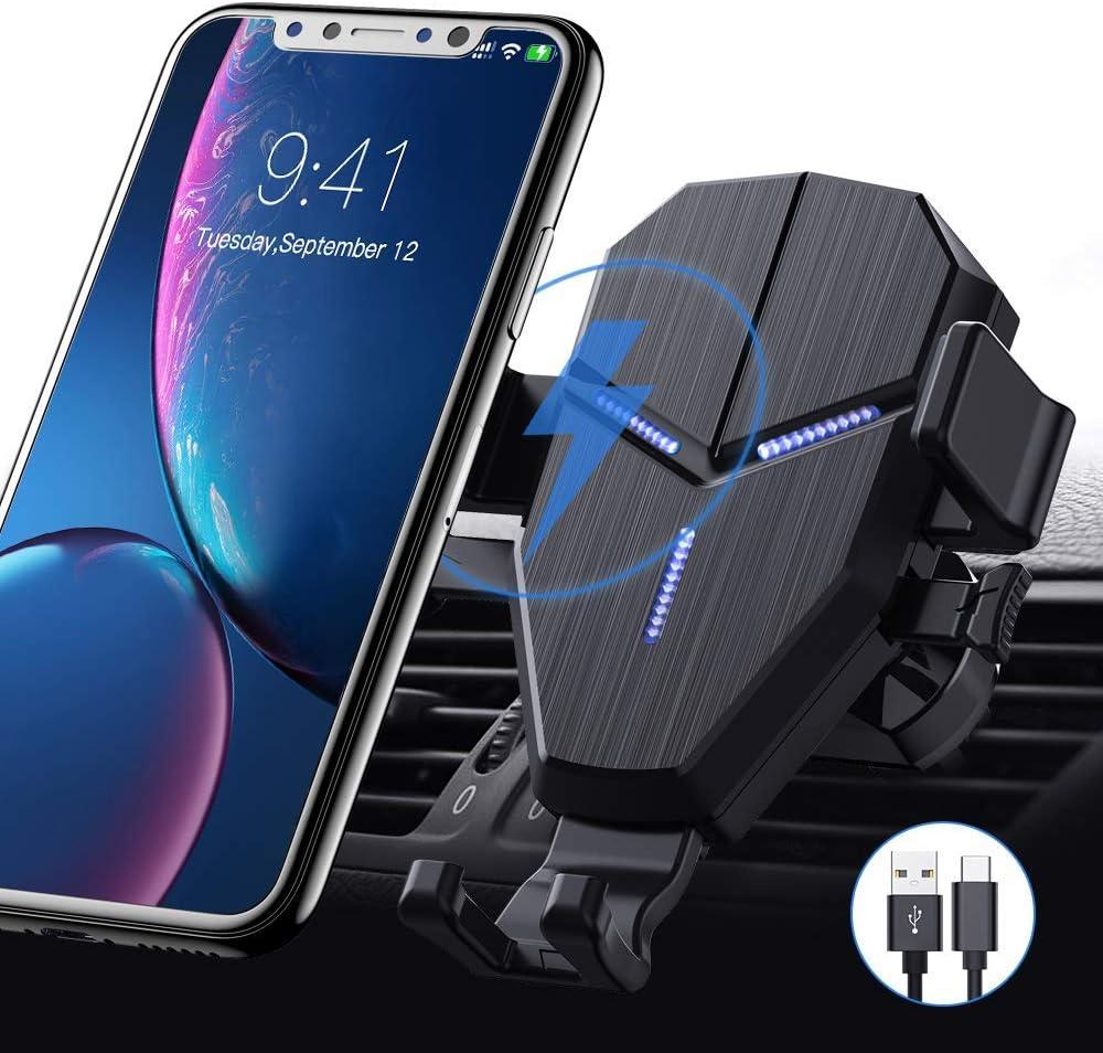 Avolare Wireless Charger Auto 10 W Kabelloses Auto Ladegerät Qi Auto Handyhalterung Kfz Induktive Ladestation Lüftung