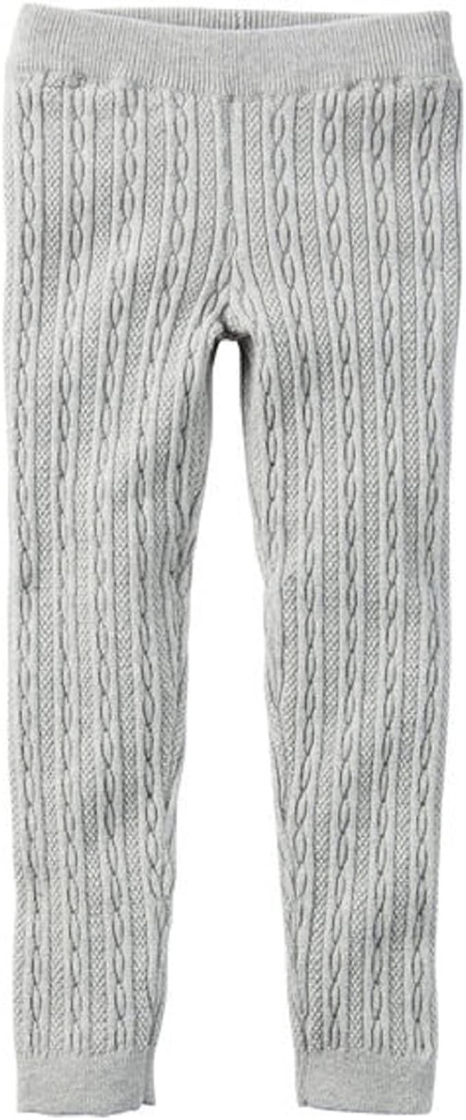 Carter's Little Girls' Cable Knit Sweater Leggings (2t, Gray