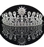 alilith.Z Wedding Pageant Crown Rhinestone Crystal Bridal Tiara Prom Queen Crown for Women