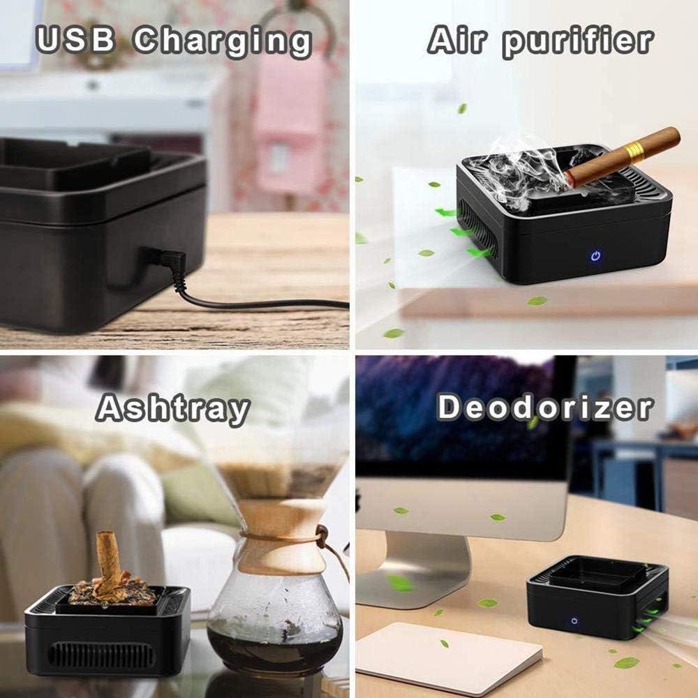 purificador de aroma purificador de aire sin humo Purificador de aire para cenicero recargable por USB se puede utilizar para el hogar//oficina//coche LayOPO iones negativos de alta presi/ón
