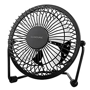 metal desk fan glamouric small table fan 4 inch mini portable size usb powered quiet. Black Bedroom Furniture Sets. Home Design Ideas