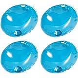 Pack of 4 Instant Heating GEL HAND WARMERS - Reusable Heat Pack Pad Handwarmers Warmer (Oval Blue)