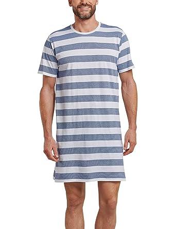 2010b1cc4f Schiesser Herren Nachthemd Kurz Einteiliger Schlafanzug: Amazon.de:  Bekleidung