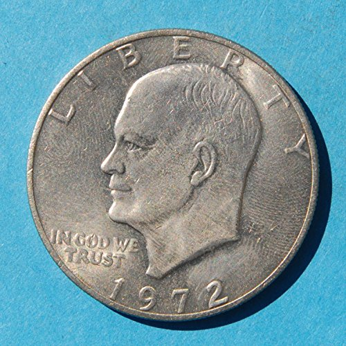 """1972 United States of America 1 Dollar """"Eisenhower Dollar"""" Silver Collectors' Issue #1 Coin Very Good Details"""