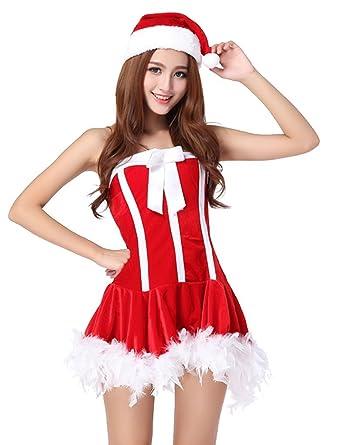 Amazon.com: Drasawee Mujer Chicas Navidad Fancy sin tirantes ...