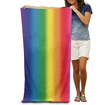 Blurred Rainbow (8 Color) natación toallas de playa para adultos: Amazon.es: Hogar
