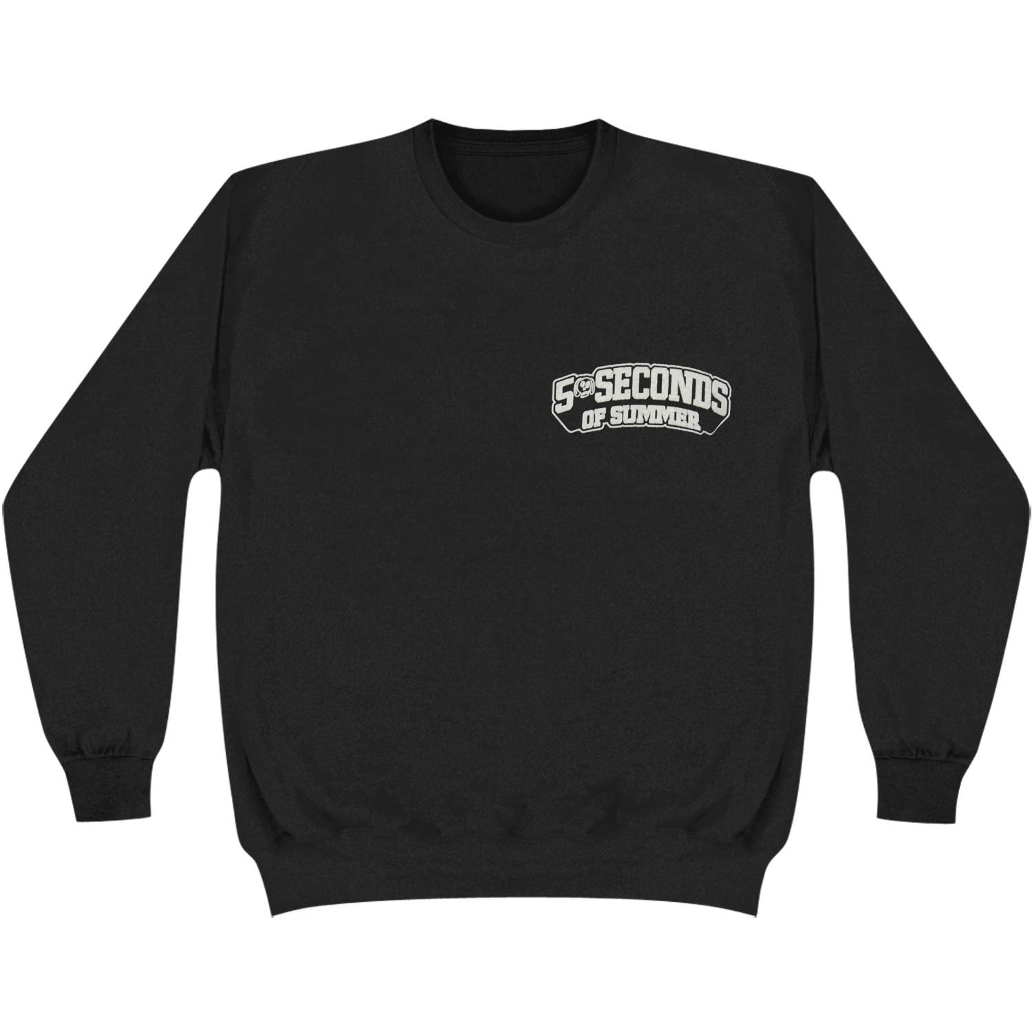 5 Seconds Of Summer Skull Logo Crewneck Pullover Sweatshirt - Black (Medium)