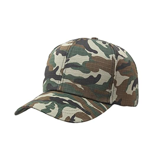 f6d865848 Vertily Hat Unisex Vintage Casual Adjustable Army Camo Plain ...