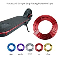 Sumeier Body Anti-Collision Strip - 6.67 Feet Plating Decorative Bumper Strip Scratch Prevention Protective Tape for Xiaomi Mijia M365 Ninebot ES1 ES2 ES3 ES4 Electric Scooter (Red)