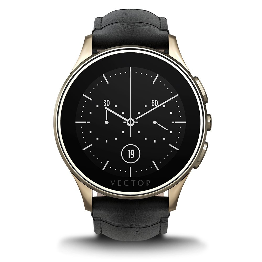 Vector Watch Luna Smartwatch-30 Day+ Autonomy, 5ATM, Notifications, Activity Tracking - Champagne Gold/Black Croco-Elegant