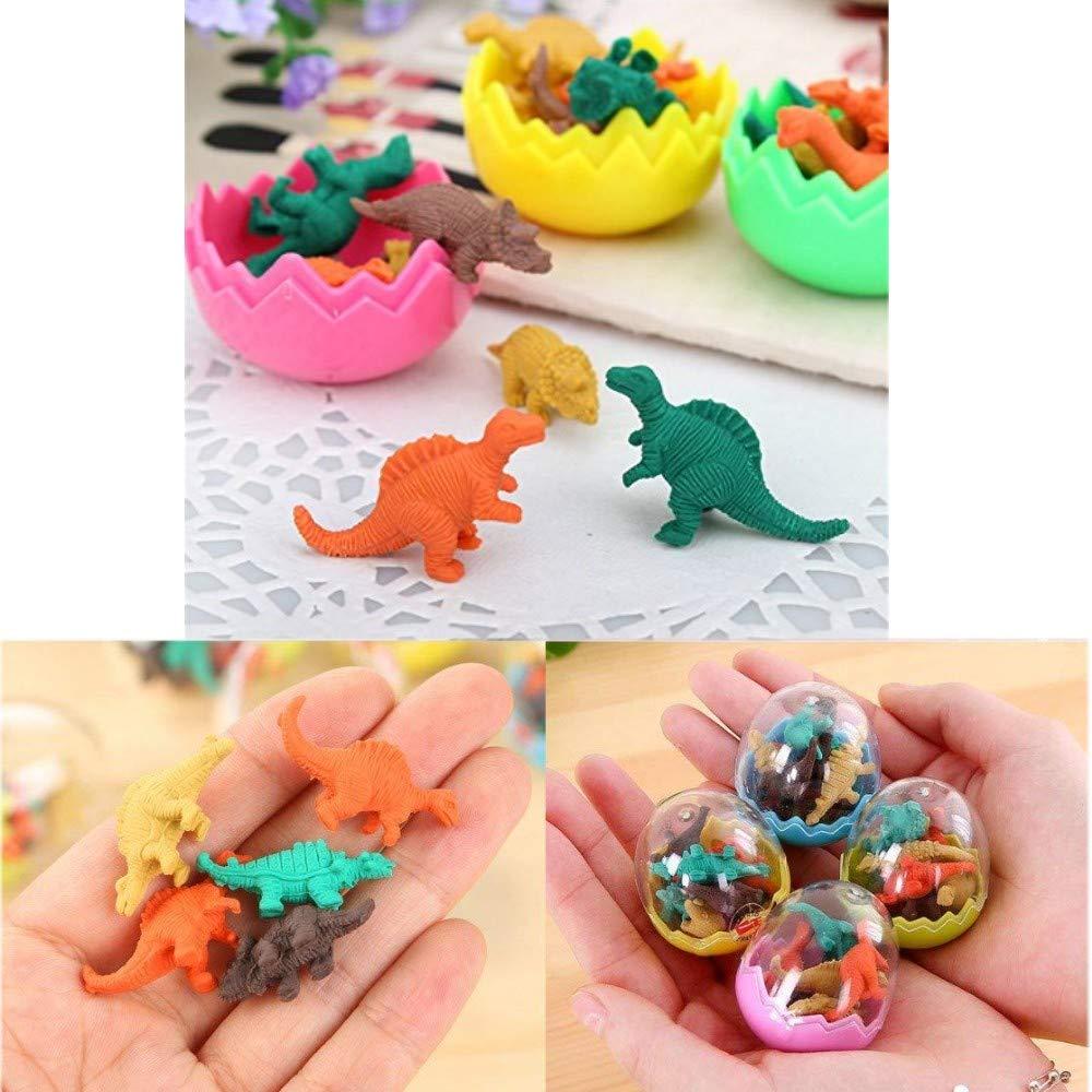 JZK 24 Huevos Dinosaurio con Poca Goma Juguete Dinosaurio Mini borrar Borrador lápiz Juguete para niños Fiesta a los niños Fiesta cumpleaños Rellenos ...