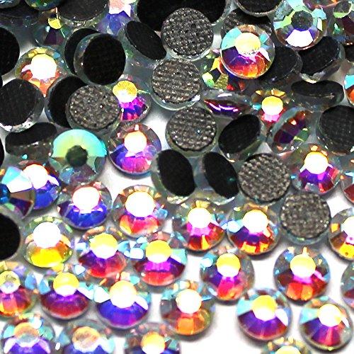 Zbella Crystal Hot Fix Rhinestones 10 Gross (1440 Stones/pkg) Hotfix Rhinestones (ss30 (700 Pcs), AB Crystal)
