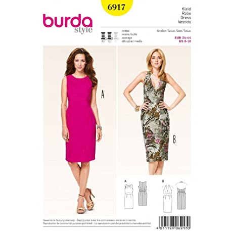Amazon.com: Burda Sewing pattern, 6917 - Dresses: Arts, Crafts & Sewing