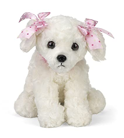 Amazon Com Bearington Sassy Plush Stuffed Animal White Puppy Dog 13