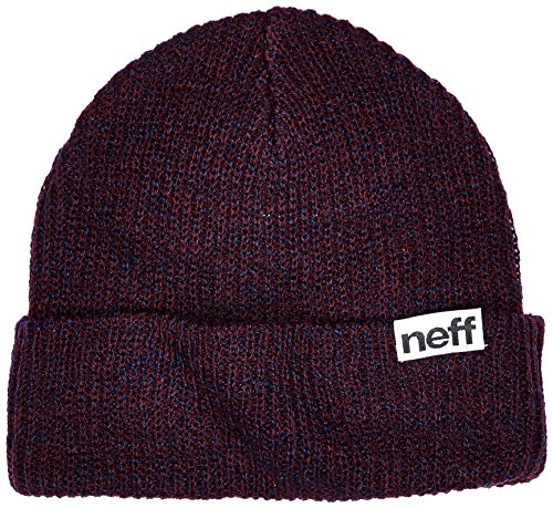 neff Fold Heather Beanie, Navy/Maroon, One Size