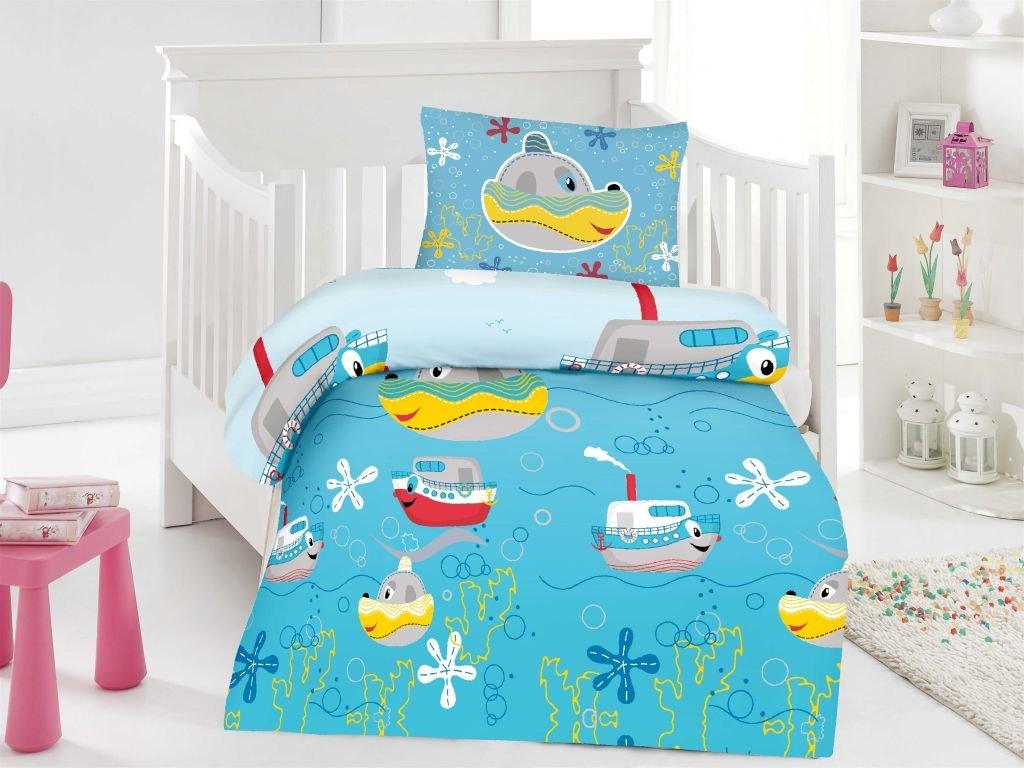 badtex24 2//4 tlg Kinder Baby Bettbezug Bettw/äsche Bettgarnitur Baumwolle 100 x 135 cm Rob 100cm x 135cm 2 tlg
