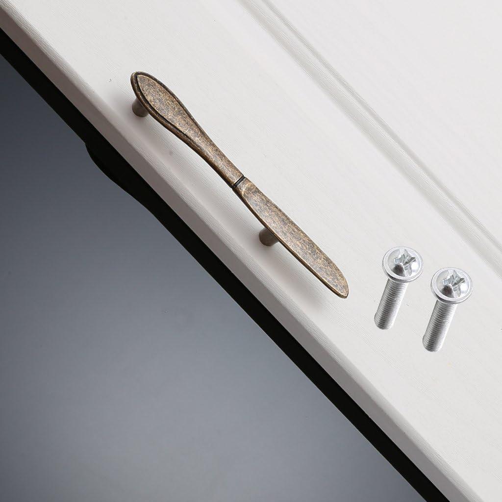 Kreative M/öbelgriffe Griff f/ür T/ür Schrank Schublade L/öffel//Gabel//Messer Design Bronze Gabel