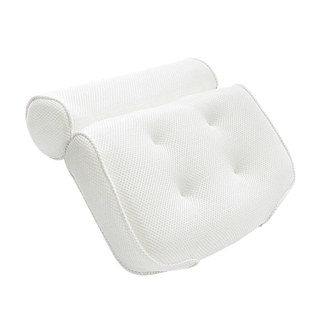 B Blesiya Bath Pillow Headrest White Relax Suction Cups for Bathtub/Hot Tub/Jacuzzi