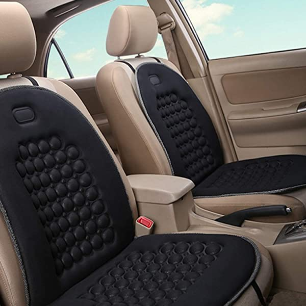 Universal Auto SUV Truck Office Home Wooden Bead Double Strung Cushion Wood Cushion Massage Comfort Cover Cooling Stress Fee Reduces Fatigue VaygWay Beaded Car Seat Cover