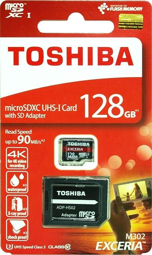 Toshiba - Tarjeta de Memoria Micro SD de 128 GB y 128 G ...