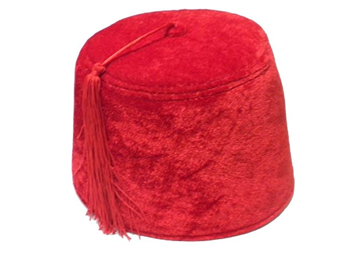 68b5a906291a Amazon.com: Red Velvet Shriner Military Fez with Tassel: Clothing