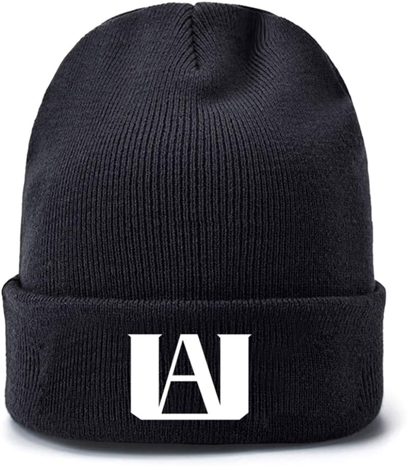 Saicowordist My Hero Academia Knitted Hat Pair Wool Hat Autumn Winter Creative Printed Hat Hot Gift for Anime Fans a