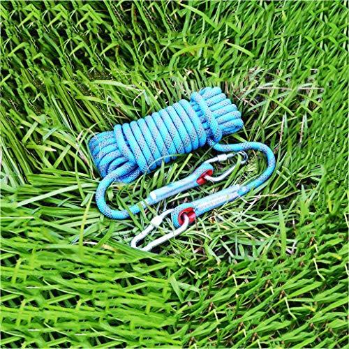 科学者プレーヤー影のあるラペリング、補助、火災救助空力作業、保護、直径14 Mmの安全のためのロープの登山高耐久性高品質ロープ30メートル、 (色 : 青, サイズ : Diameter 8 mm/30 M)
