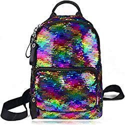 Sequins School Bookbag with Multi-Pockets
