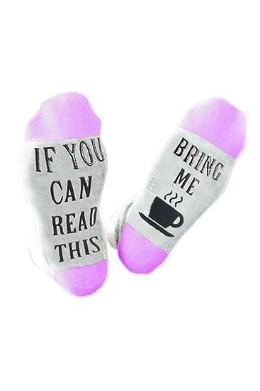 YACUN Unisex Gracioso Diciendo De Punto Crew Calcetines Para Hombres Mujeres Purple One Size: Amazon.es: Ropa y accesorios