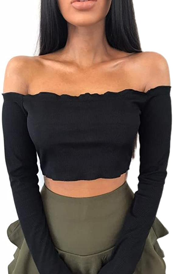 Women Ruffle Bandeau Top Boob Tube Frill Strapless Summer Beach T-Shrit Blouse