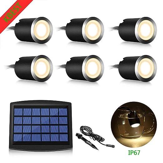 KBEST Luz Solar Impermeable IP67 Sensor de Movimiento,Foco Solar ...