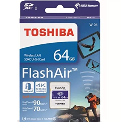 Toshiba FlashAir W-04 64GB Wireless UHS-I U3 Class 10 SDXC