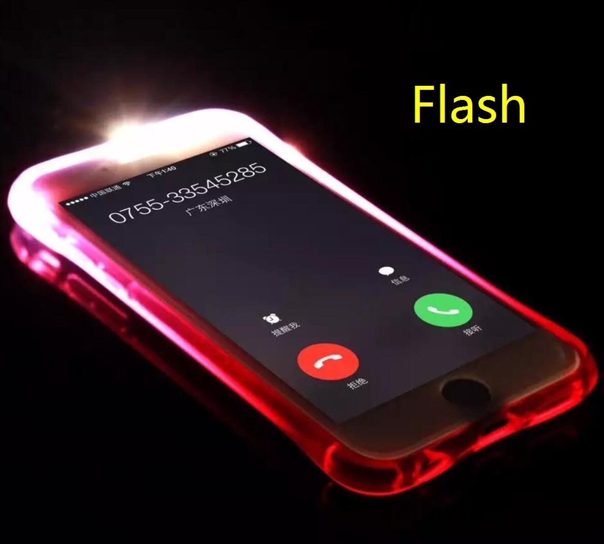 finest selection b1791 72dda iPhone5S/SE Case, Cool Flashing Light UP To Remind Incoming Call Slim Cover  by Phone's LED Refraction, TAITOU Awesome Soft TPU Thin Phone Case For ...