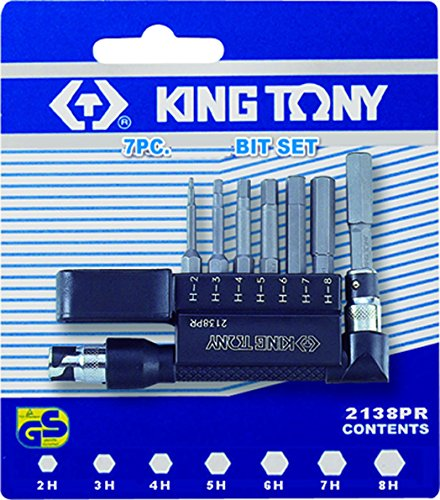 KT Pro Tools (2138PR) 7-Piece Tamper Resistant Bit and L-Type Holder Set