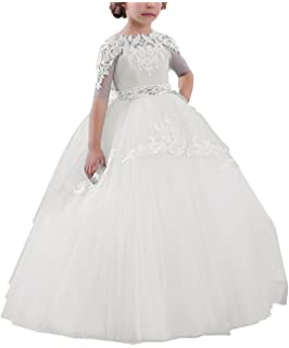 Carat Holy Vestidos de First Communion Dresses White Blue Girls 1-14 Year Old