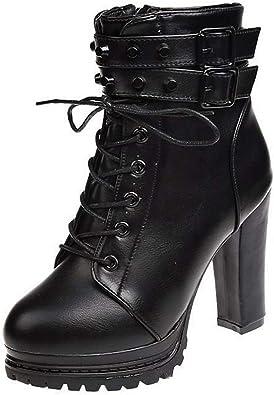 black booties platform heels